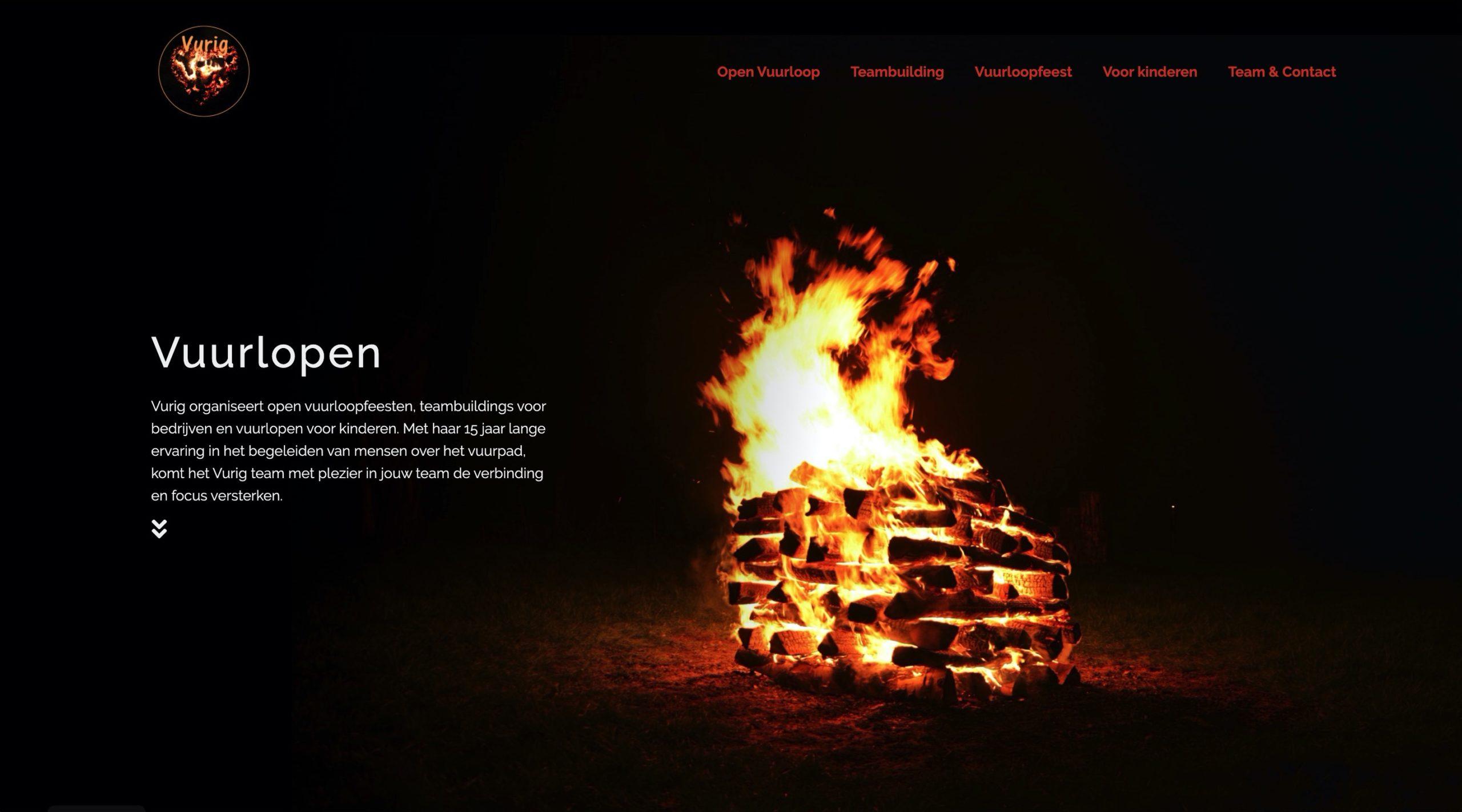 website vurig.be startpagina